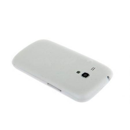 Накладка-пластик матовая, для  Samsung i8160, белый