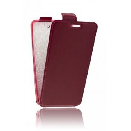 "Сумка-книжка EXPERTS ""Slim Flip Case"" LS, кожзам, для HTC 816,бордовый"