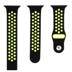 Ремешок для Apple Watch 38/40 мм black/fluorescent green