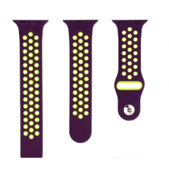 Ремешок для Apple Watch 38/40 мм dark purple/fluo yellow