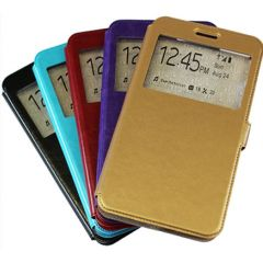 "Сумка-книжка EXPERTS ""Slim Book Case"", кожзам, для HTC Desire 825,золотой"