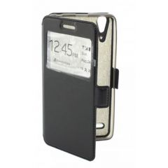 "Сумка-книжка EXPERTS ""Slim Book Case"", кожзам, для HTC 526G/326G,черный"